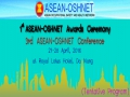ASEAN-OSHNET : 1st OSH Award Ceremony and 3rd Conference Program
